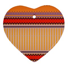 Stripes And Chevrons			ornament (heart) by LalyLauraFLM