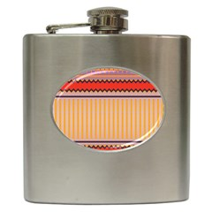 Stripes And Chevrons			hip Flask (6 Oz)
