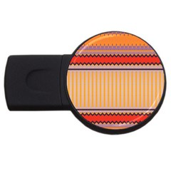 Stripes And Chevrons			usb Flash Drive Round (2 Gb) by LalyLauraFLM