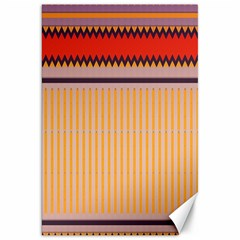 Stripes And Chevrons			canvas 20  X 30  by LalyLauraFLM