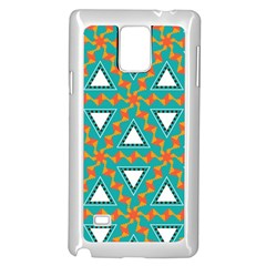 Triangles And Other Shapes Pattern			samsung Galaxy Note 4 Case (white) by LalyLauraFLM