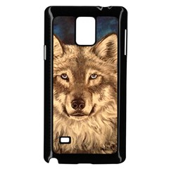 Wolf Samsung Galaxy Note 4 Case (black)