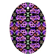 Purple Green Flowers With Green Oval Ornament (two Sides) by Costasonlineshop