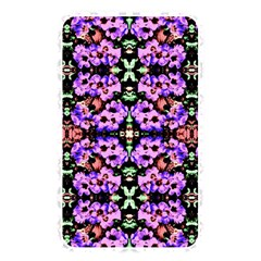 Purple Green Flowers With Green Memory Card Reader by Costasonlineshop