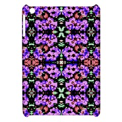 Purple Green Flowers With Green Apple Ipad Mini Hardshell Case by Costasonlineshop
