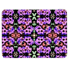 Purple Green Flowers With Green Samsung Galaxy Tab 7  P1000 Flip Case by Costasonlineshop