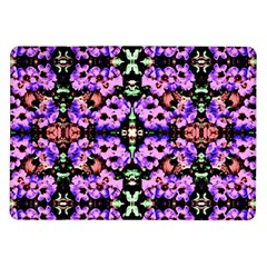Purple Green Flowers With Green Samsung Galaxy Tab 10 1  P7500 Flip Case by Costasonlineshop