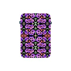 Purple Green Flowers With Green Apple Ipad Mini Protective Soft Cases by Costasonlineshop