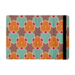 Stars And Honeycombs Pattern			apple Ipad Mini Flip Case by LalyLauraFLM