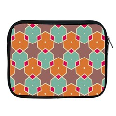 Stars And Honeycombs Pattern			apple Ipad 2/3/4 Zipper Case by LalyLauraFLM