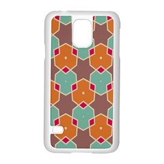Stars And Honeycombs Pattern			samsung Galaxy S5 Case (white)