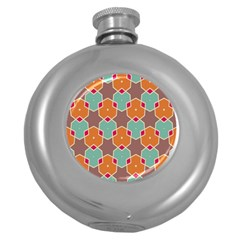 Stars And Honeycombs Pattern			hip Flask (5 Oz) by LalyLauraFLM