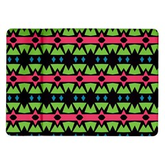 Shapes On A Black Background Pattern			samsung Galaxy Tab 10 1  P7500 Flip Case by LalyLauraFLM