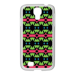 Shapes On A Black Background Pattern			samsung Galaxy S4 I9500/ I9505 Case (white)