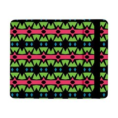 Shapes On A Black Background Pattern			samsung Galaxy Tab Pro 8 4  Flip Case