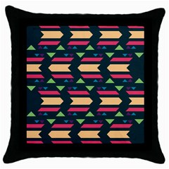 Triangles And Other Shapes			throw Pillow Case (black) by LalyLauraFLM