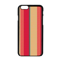 Stripes And Other Shapes			apple Iphone 6/6s Black Enamel Case by LalyLauraFLM