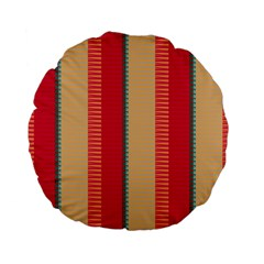 Stripes And Other Shapes 	standard 15  Premium Flano Round Cushion