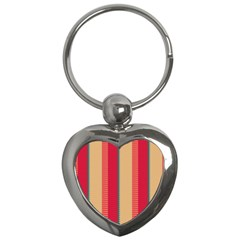 Stripes And Other Shapes			key Chain (heart) by LalyLauraFLM