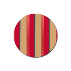 Stripes And Other Shapes			rubber Round Coaster (4 Pack) by LalyLauraFLM