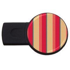 Stripes And Other Shapes			usb Flash Drive Round (4 Gb) by LalyLauraFLM