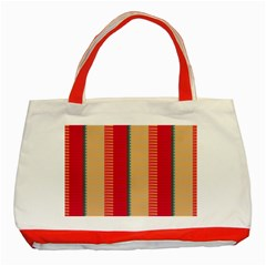 Stripes And Other Shapes			classic Tote Bag (red) by LalyLauraFLM