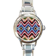 Colorful Diamond Crochet Round Italian Charm Watches by Costasonlineshop