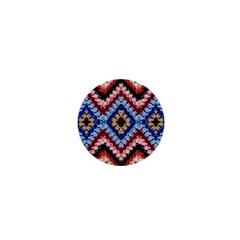 Colorful Diamond Crochet 1  Mini Buttons by Costasonlineshop