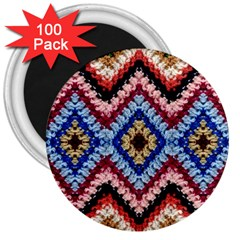 Colorful Diamond Crochet 3  Magnets (100 Pack) by Costasonlineshop
