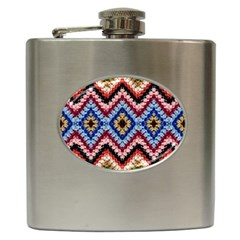 Colorful Diamond Crochet Hip Flask (6 Oz) by Costasonlineshop