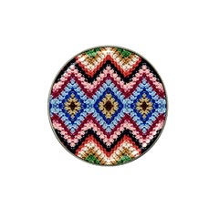 Colorful Diamond Crochet Hat Clip Ball Marker by Costasonlineshop