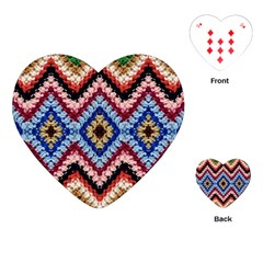 Colorful Diamond Crochet Playing Cards (heart)  by Costasonlineshop