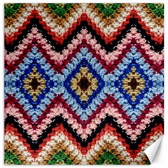 Colorful Diamond Crochet Canvas 16  X 16   by Costasonlineshop