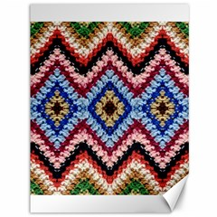 Colorful Diamond Crochet Canvas 36  X 48   by Costasonlineshop
