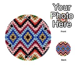 Colorful Diamond Crochet Playing Cards 54 (round)  by Costasonlineshop