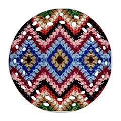 Colorful Diamond Crochet Round Filigree Ornament (2side) by Costasonlineshop