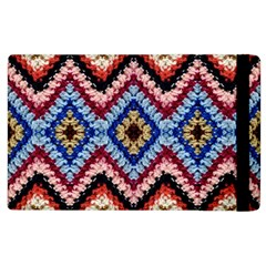 Colorful Diamond Crochet Apple Ipad 2 Flip Case by Costasonlineshop