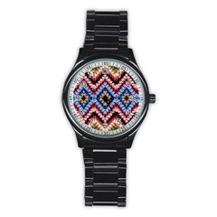 Colorful Diamond Crochet Stainless Steel Round Watches by Costasonlineshop