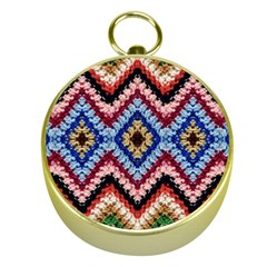 Colorful Diamond Crochet Gold Compasses by Costasonlineshop