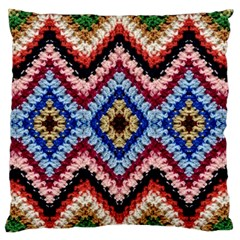 Colorful Diamond Crochet Standard Flano Cushion Cases (two Sides)  by Costasonlineshop