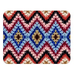 Colorful Diamond Crochet Double Sided Flano Blanket (large)