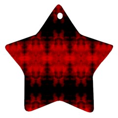 Red Black Gothic Pattern Ornament (star)  by Costasonlineshop