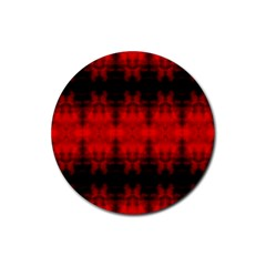 Red Black Gothic Pattern Rubber Round Coaster (4 Pack)  by Costasonlineshop