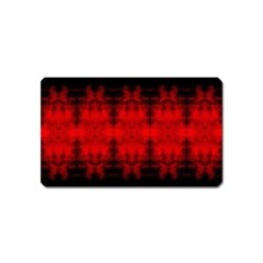 Red Black Gothic Pattern Magnet (name Card) by Costasonlineshop