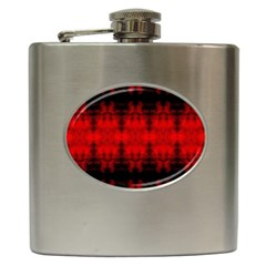 Red Black Gothic Pattern Hip Flask (6 Oz) by Costasonlineshop