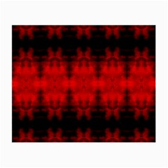 Red Black Gothic Pattern Small Glasses Cloth by Costasonlineshop