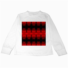 Red Black Gothic Pattern Kids Long Sleeve T Shirts by Costasonlineshop