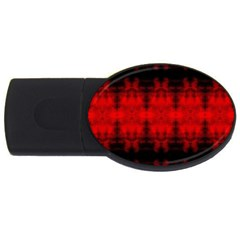 Red Black Gothic Pattern Usb Flash Drive Oval (4 Gb)  by Costasonlineshop