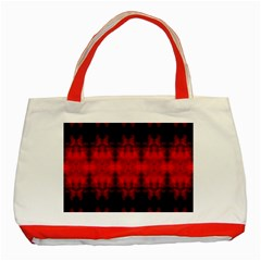 Red Black Gothic Pattern Classic Tote Bag (red)  by Costasonlineshop