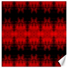 Red Black Gothic Pattern Canvas 16  X 16   by Costasonlineshop